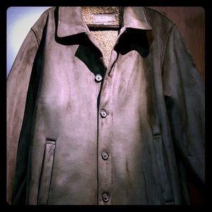 Men's Black Warm Suede Jacket